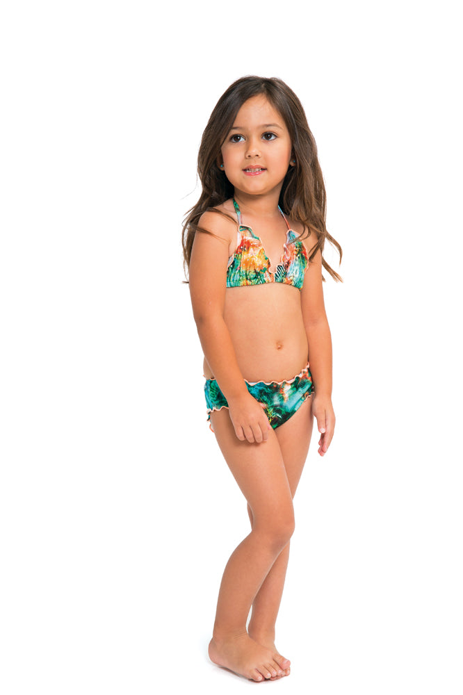MIAMI NICE T - Wavey Triangle Top Ruched Back Bikini • Multicolor