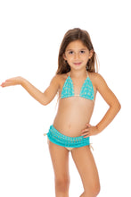 BURBUJAS DE AMOR - Triangle Top Skirt Bottom Bikini • Aqua