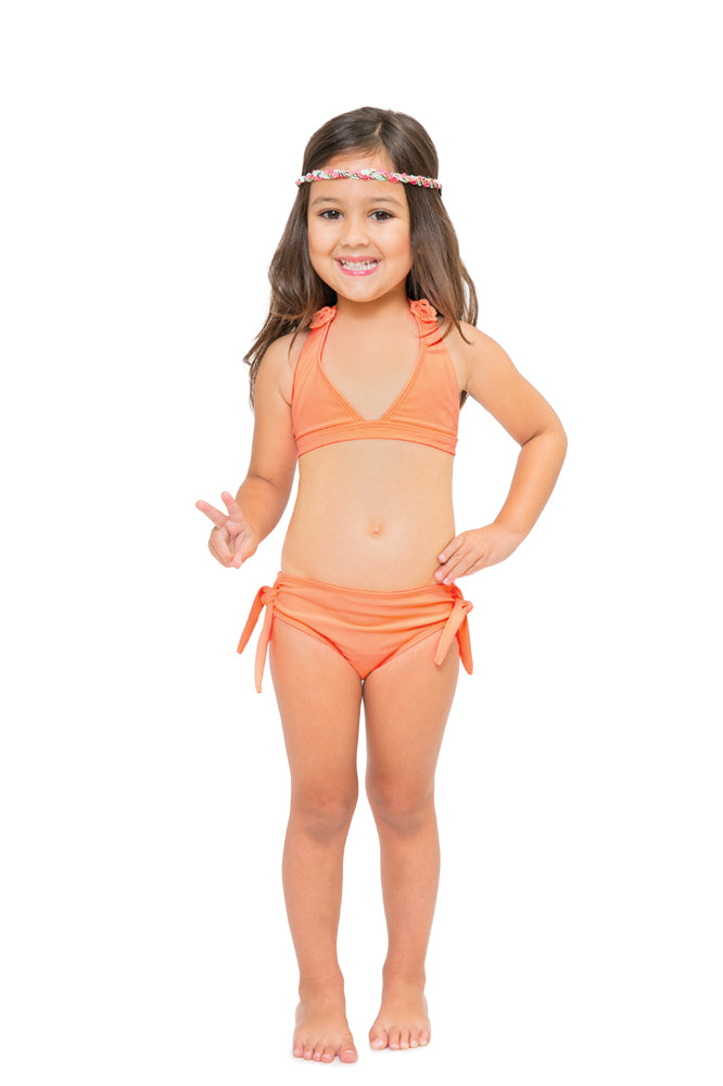 FLORCITAS DE ARENA - Triangle Full Bikini Set • Miami Peach