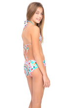 DREAM CATCHER - Wavey Triangle Top Ruched Back Bikini • Multicolor