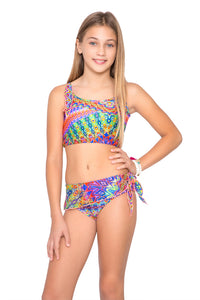 FREE LOVE - Bow Tankini Set • Multicolor