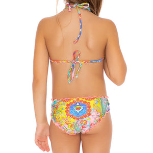 SIREN DANCE - Wavey Triangle Top Ruched Back Bikini