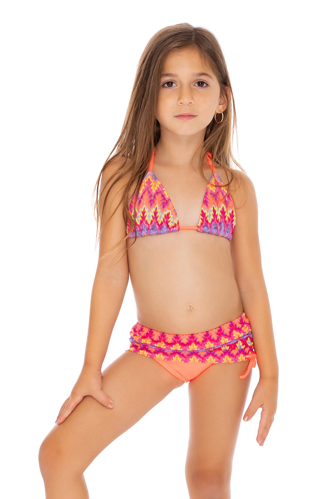 SONG OF THE SEA - Triangle Tops Skirt Bottom Bikini • Multicolor