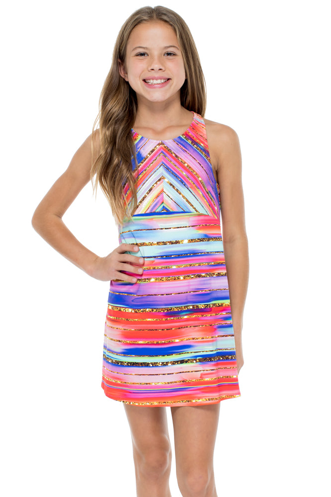 BELLAMAR - T Back Short Dress • Multicolor