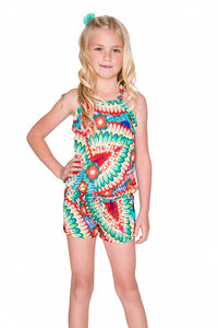 WILD HEART - Cross Back Romper • Multicolor