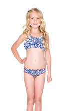 NAUGHTY GIRL - Ruffle Layered Top Ruched Back Bikini • Multicolor