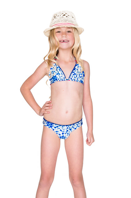 BEAUTIFUL MESS - Triangle Stitched Bikini • Multicolor
