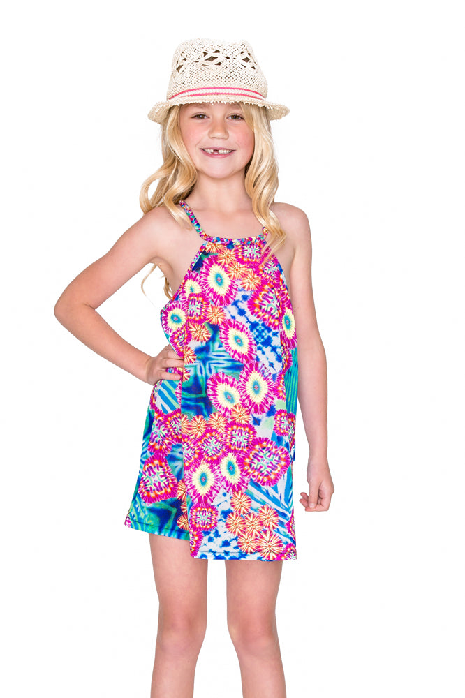 BEAUTIFUL MESS - Braided Short Dress • Multicolor (874412736556)