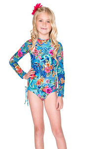 INKED BABE - Ink Mesh Rush Guard One Piece • Multicolor (874449535020)
