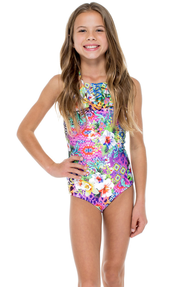 GUAJIRA SUPERSTAR - Ruffle Layered One Piece • Multicolor (874556981292)