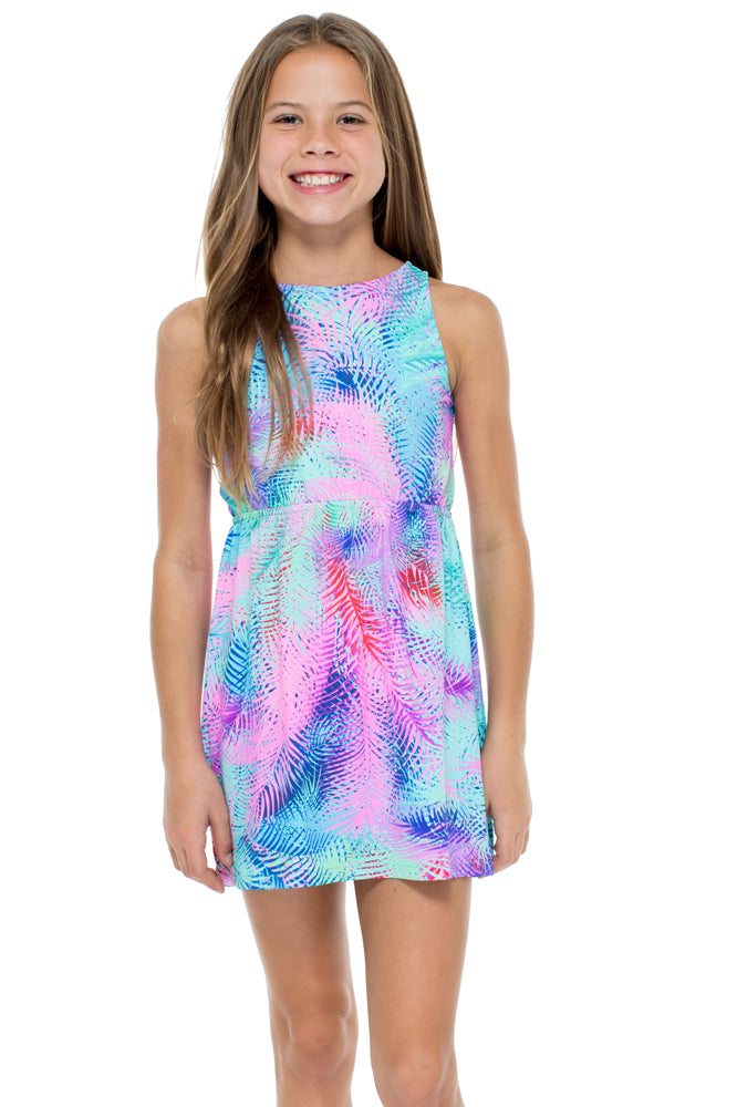 PALMARES - Knot Back Short Dress • Multicolor