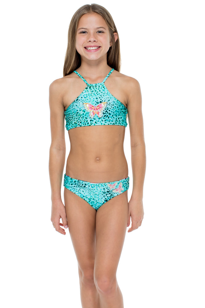 VIVA CUBA - Patch High Neck Bikini • Multicolor