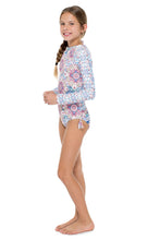 AZUCAR - Tassel Rash Guard One Piece • Multicolor