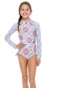 AZUCAR - Tassel Rash Guard One Piece • Multicolor (874529194028)