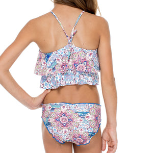 AZUCAR - Tankini Side Tab Ruched Back Bikini