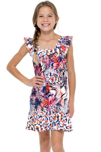 CIENFUEGOS - Ruffle Short Dress • Multicolor