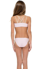 LA CORREDERA - Eyelets Lace Up Triangle Bikini • Niña