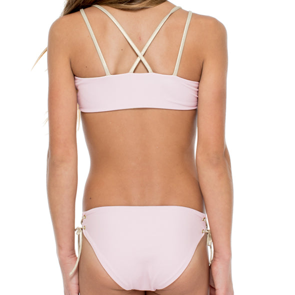 LA CORREDERA - Eyelets Lace Up Triangle Bikini