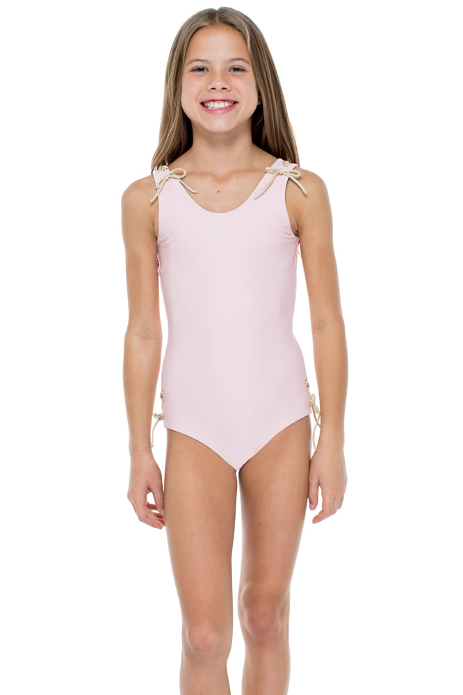LA CORREDERA - Eyelets Lace Up One Piece • Niña