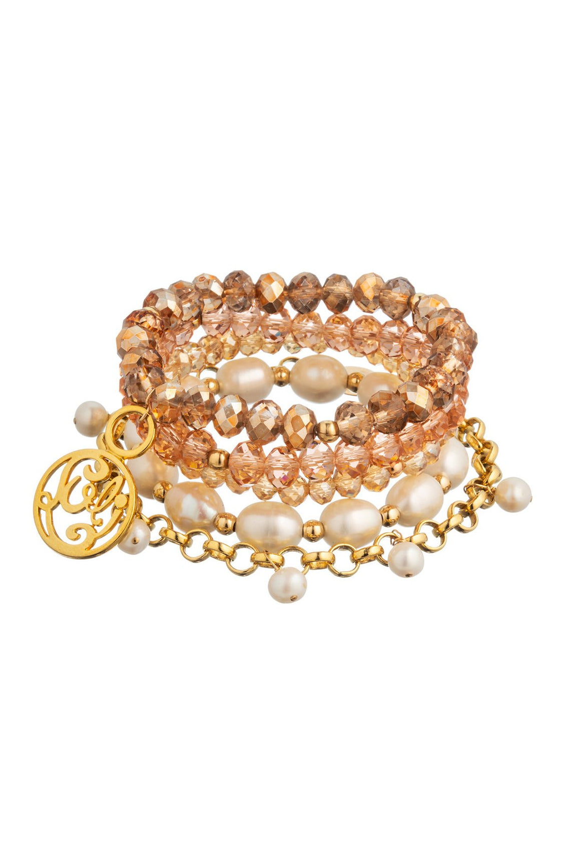 TAUDREY - Bracelet Set • Rose Gold