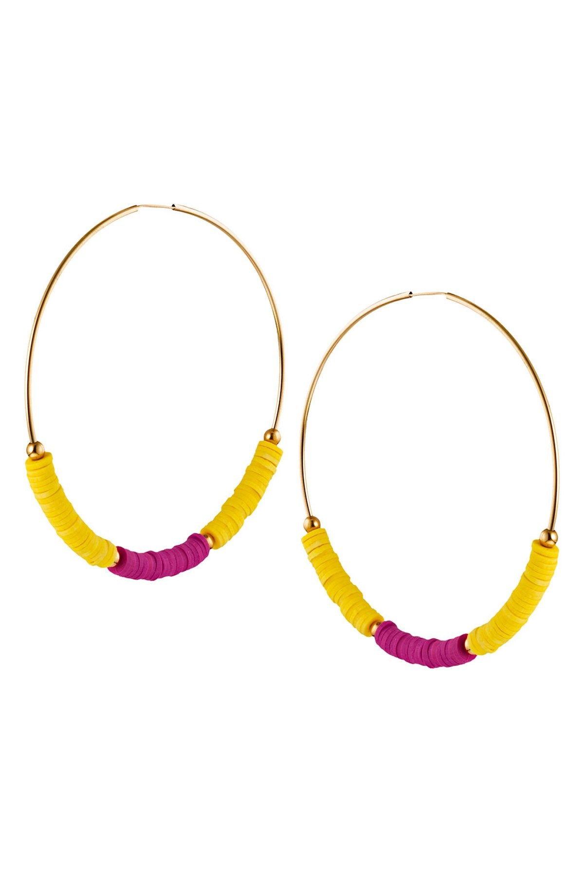 TAUDREY - Guava Hoop Earrings • Limon