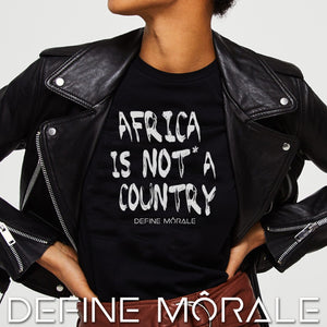 Africa is NOT a Country - (Black) Short sleeve women's t-shirt