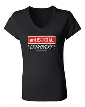 Antisocial Extrovert - Women's Casual V-Neck Shirt