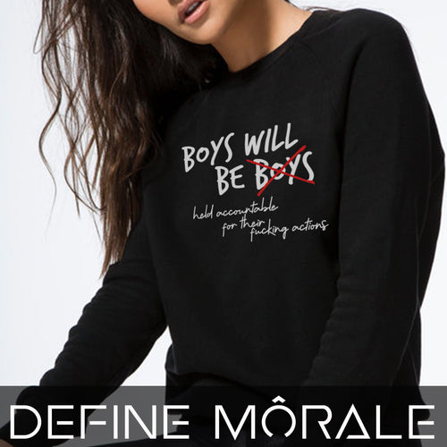 Boys will be held accountable - Unisex California Fleece Raglan Sweatshirt