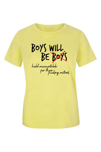 Boys Will Be Held Accountable - (Spring Yellow) Women's short sleeve t-shirt
