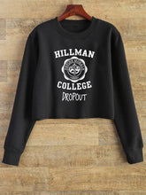 The Dropout - (Black) Crop Sweatshirt