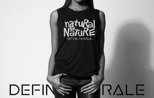Natural By Nature - (Black) Ladies' Cap Sleeve T-Shirt