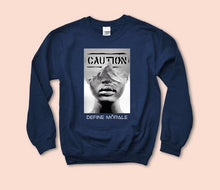 Proceed with Caution (Black & Navy) Unisex Sweatshirt