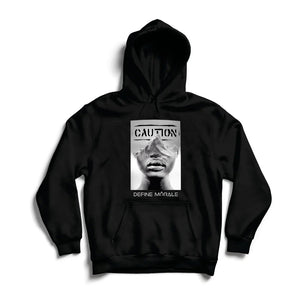 Proceed With Caution - (Black) Unisex Hoodie