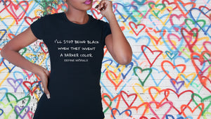 Being Black - Women's Slim Fit T-Shirt