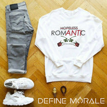 Hopeless Romantic - (White) Unisex Sweatshirt