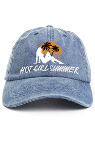 Hot Girl Summer - (Denim) Vintage Cotton Twill Cap