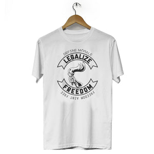 Legalize Freedom (White) - Unisex T-Shirt