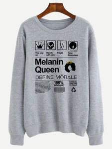 Melanin Queen - (Grey) Unisex Sweatshirt