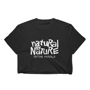 Natural By Nature - (Black) Women's Crop Top