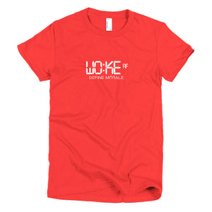 Woke AF - Short sleeve women's t-shirt