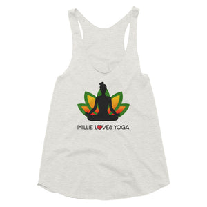 Millie Loves Yoga - Women's Tri-Blend Racerback Tank