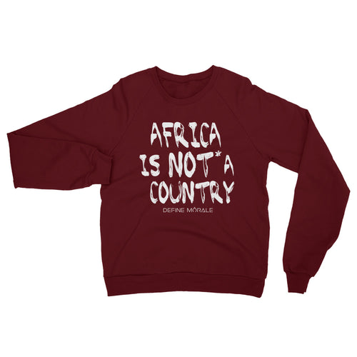 Africa is NOT a Country - (Truffle) Unisex California Fleece Raglan Sweatshirt