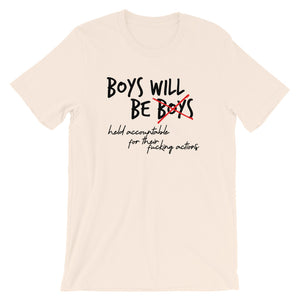 Boys will be held Accountable - (Cream) Short-Sleeve Unisex T-Shirt