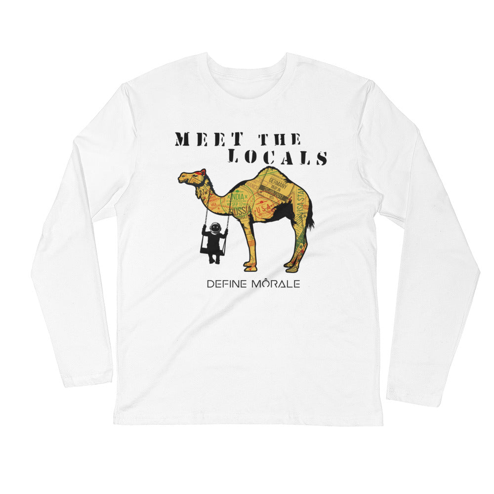Meet The Locals - Long Sleeve Fitted Crew