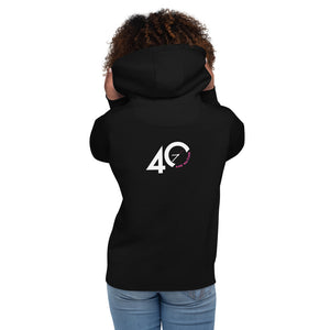 40 and waiting back - (black) Unisex Hoodie