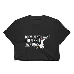Unicorns and Rainbows- Women's SLIM FIT Crop Top