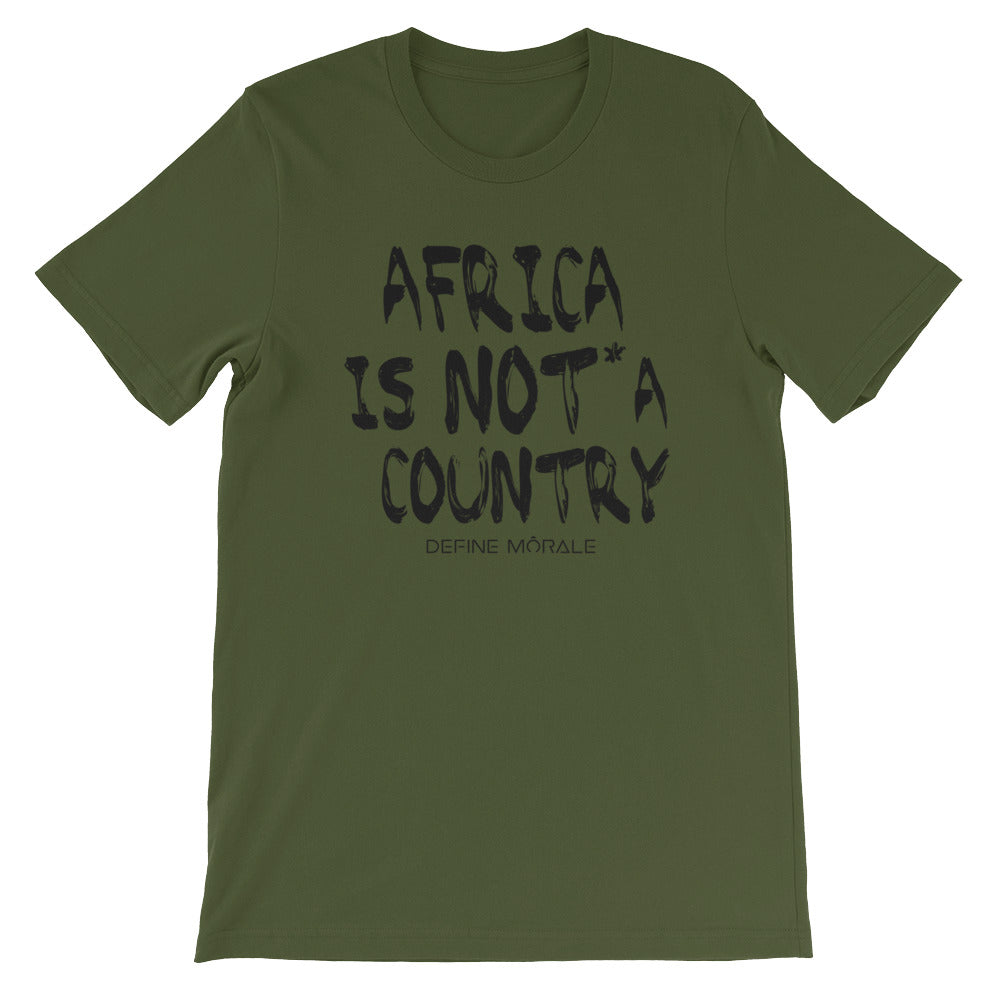 Africa is NOT a country - (Olive) Short-Sleeve Unisex T-Shirt
