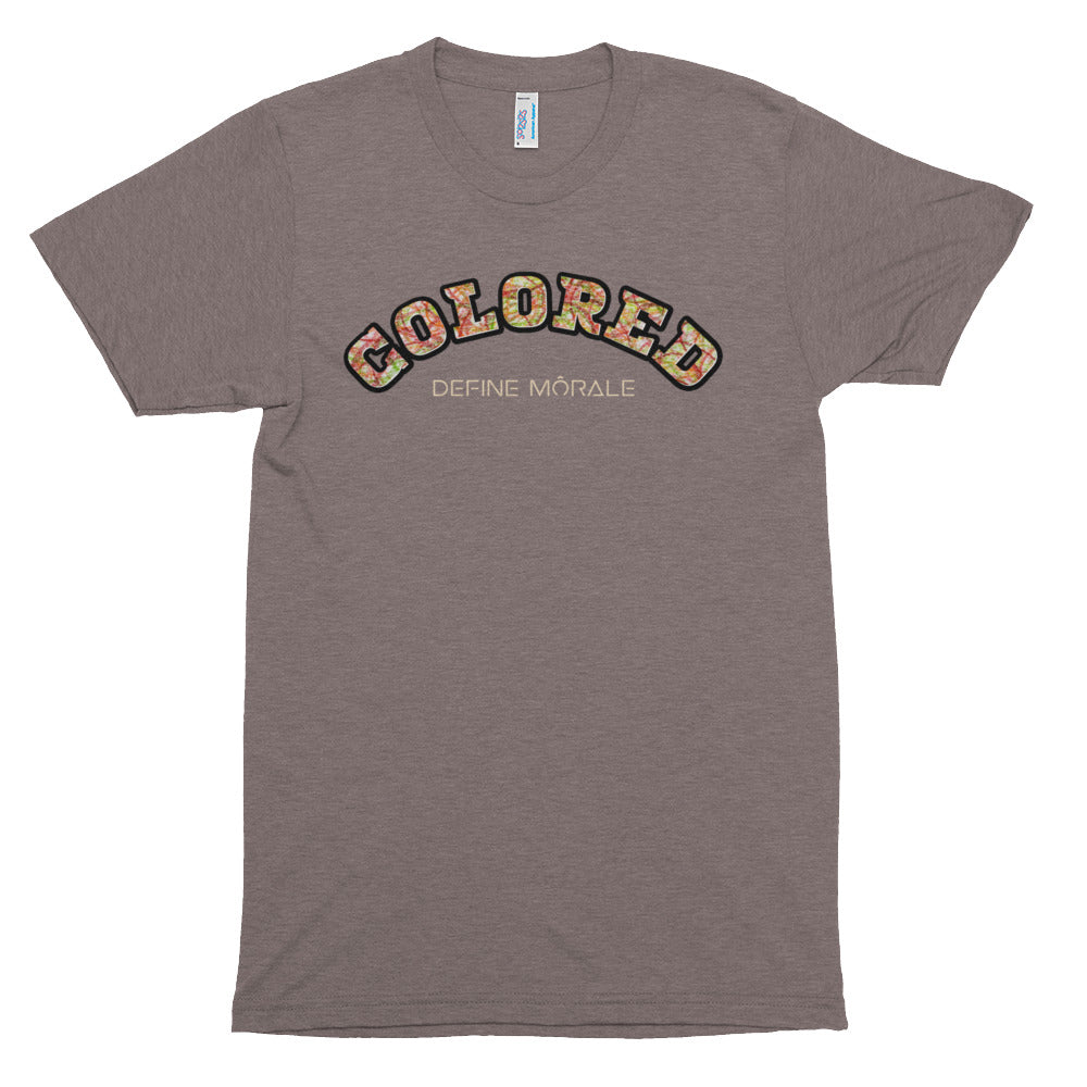 Colored Scribble - (Coffee) Unisex Tri-Blend Short Sleeve Shirt