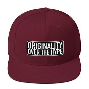 Originality Over The Hype - Snapback Hat