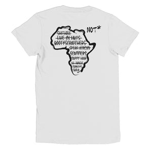 Africa is NOT a Country - Short sleeve women's t-shirt